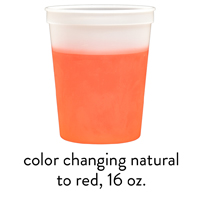 custom red color changing stadium mood cups 16oz 22oz