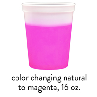 custom magenta color changing stadium mood cups 16oz