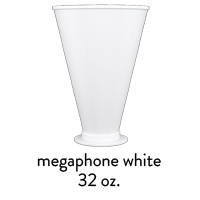 custom white stadium mega corn cups 32oz