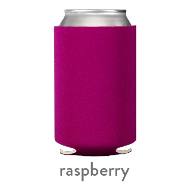 raspberry neoprene koozie hugger