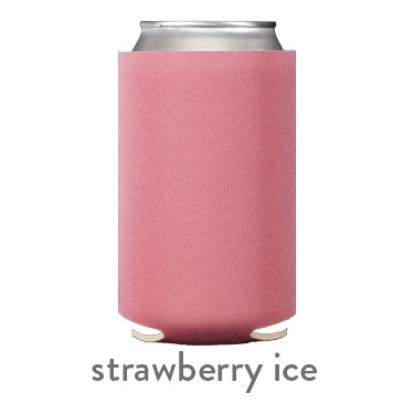 strawberry ice neoprene koozie hugger