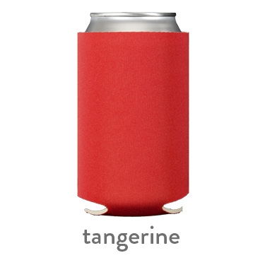 tangerine neoprene koozie hugger