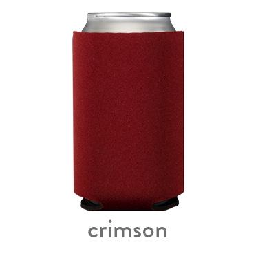 crimson neoprene koozie hugger