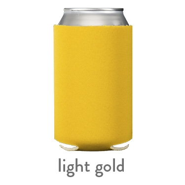 light gold neoprene koozie hugger