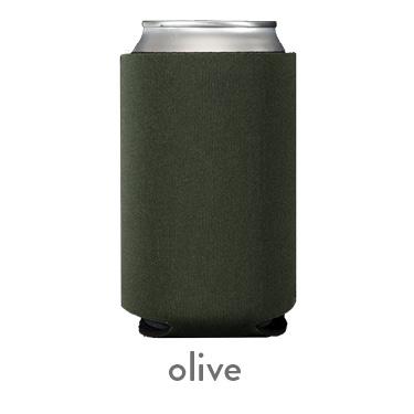 olive neoprene koozie hugger