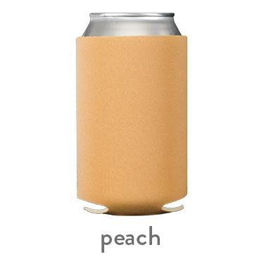 peach neoprene koozie hugger